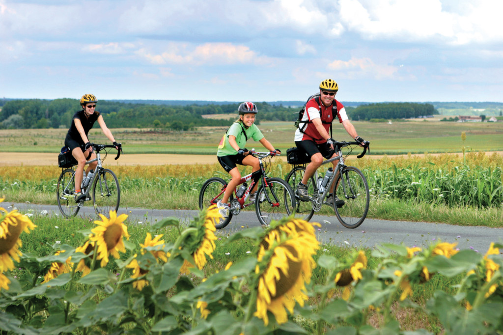 Maine family bicycle tour