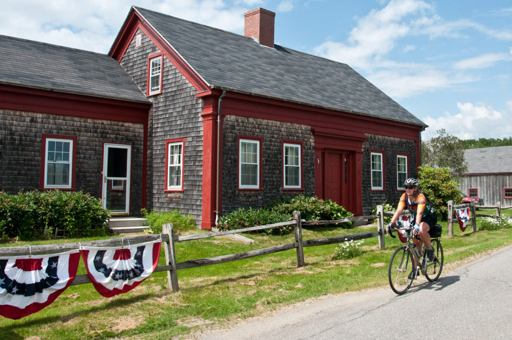 Biking on our Maine Bicycle Tour