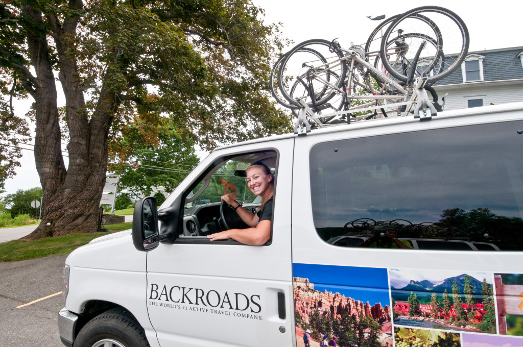 Maine Bicycle Tour Support Van