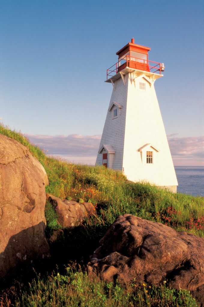Peggy's Point Lighthouse in Nova Scotia, Canada
