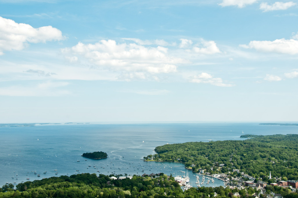 Scenic view of Maine Coast