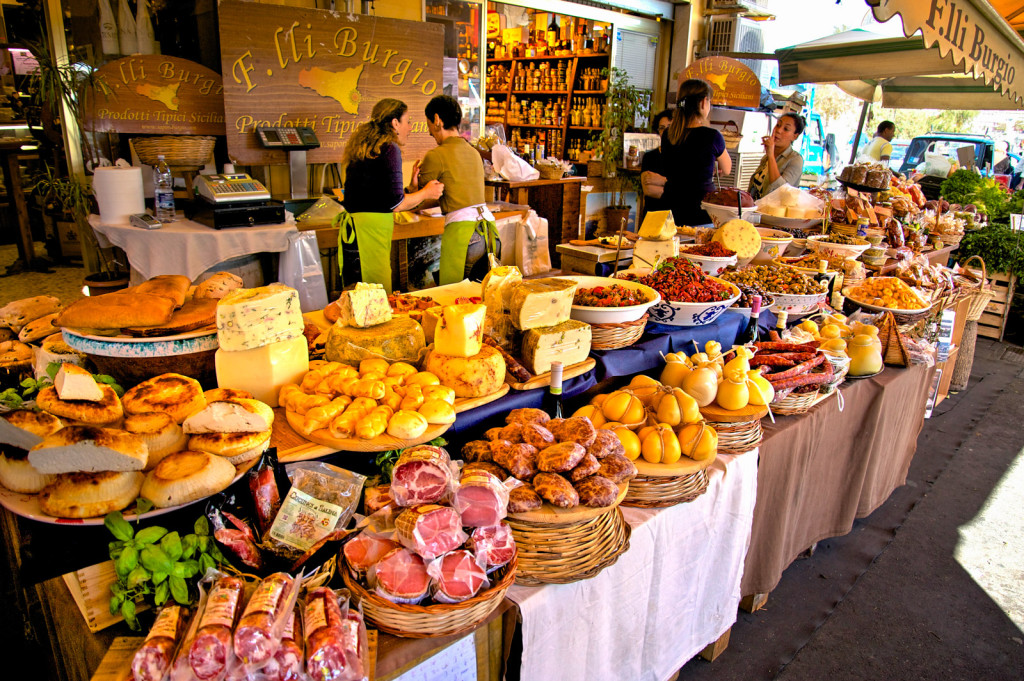 farmers market in Sicily, Italy
