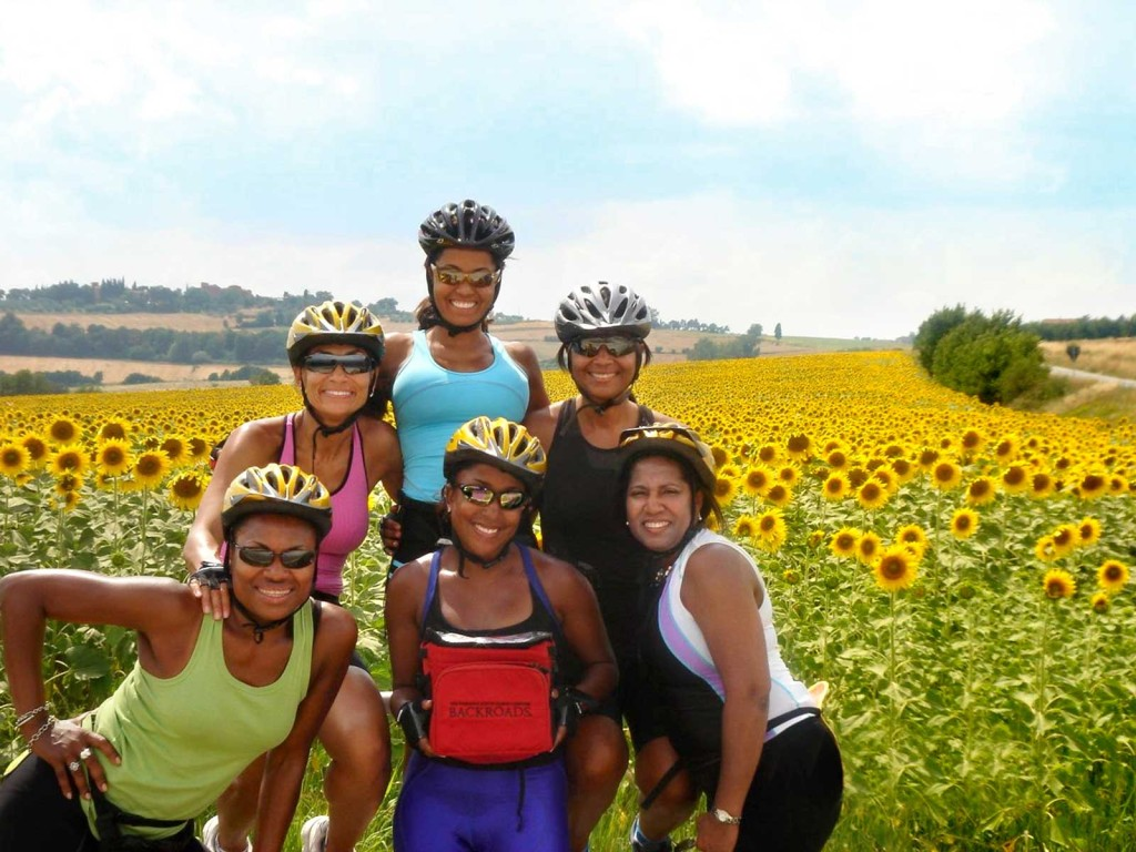 Backroads guests on Tuscany Bicycle Tour